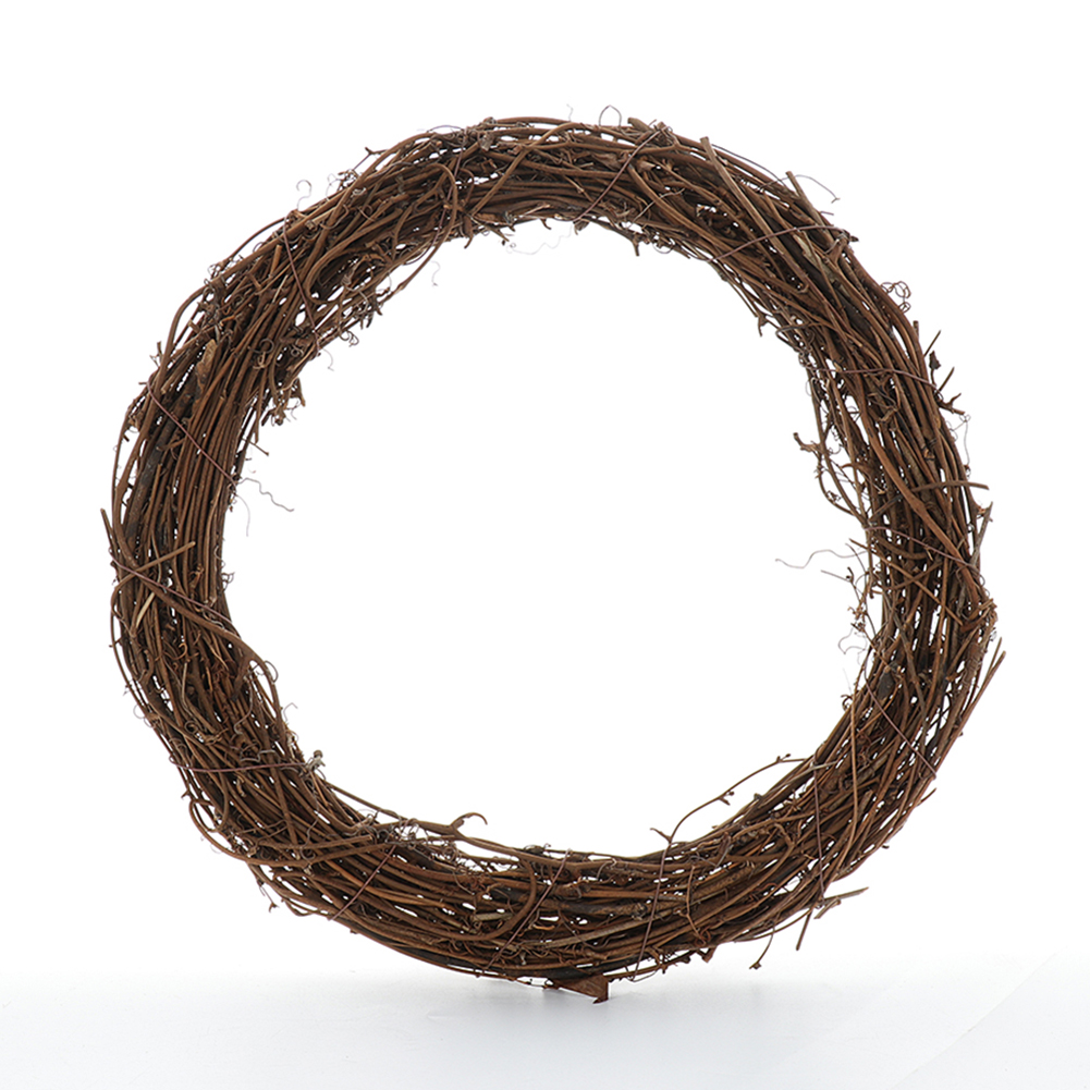 1pcs Wedding Decoration 8-40cm Home Party Wedding Wreaths Decoration Garland Material Rattan Wreath DIY Wreath Party