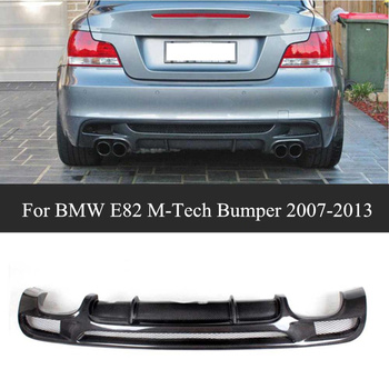 2007-2013 Year For E82 Carbon FIber Rear Bumper Lip Spoiler For B-MW 1 Series E82 E88 M 2-Door Sport Rear Diffuser image