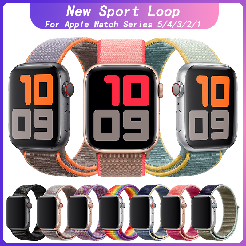 KeBitt Sunshine Sport Loop For Apple Watch 40MM 44mm Vitamin C Nylon Band Soft Neon Pink Iwatch5/4/3 Strap Neon Lime