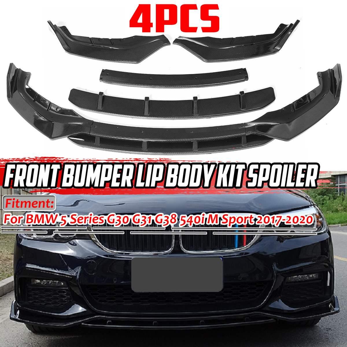 G30 бампер для автомобиля передний бампер сплиттер спойлер диффузор Защитная крышка для BMW 5 серии G30 G31 G38 540i M Спорт 2017-2020