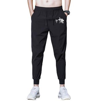 Spodnie czarny nadruk dla mężczyzn odzież trening lato elastyczna kieszeń spodnie Jogger spodnie dresowe dla joggerów Casual Solid Plus rozmiar M-8XL tanie i dobre opinie Cztery pory roku rurki CN (pochodzenie) POLIESTER Na co dzień Mieszkanie Z KIESZENIAMI REGULAR Pełna długość 2021 średniej wielkości