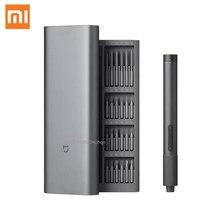 Xiaomi Mijia – Kit de tournevis électrique de précision, 2 vitesses, contrôle du couple 400, 1 vis, boîtier en aluminium magnétique Rechargeable de Type C