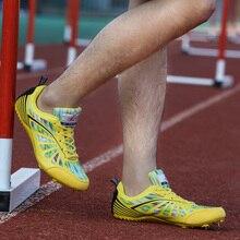 Профессиональный трек поле шиповки для мужчин и женщин Атлетическая шпилька обувь для бега кроссовки легкие унисекс обувь