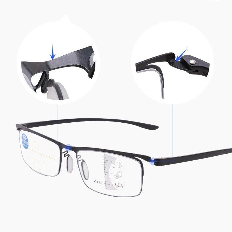 360 gradi anello Focus occhiali da lettura anti-blu diottrie occhiali progressivi multifocali uomo donna presbiopia occhiali