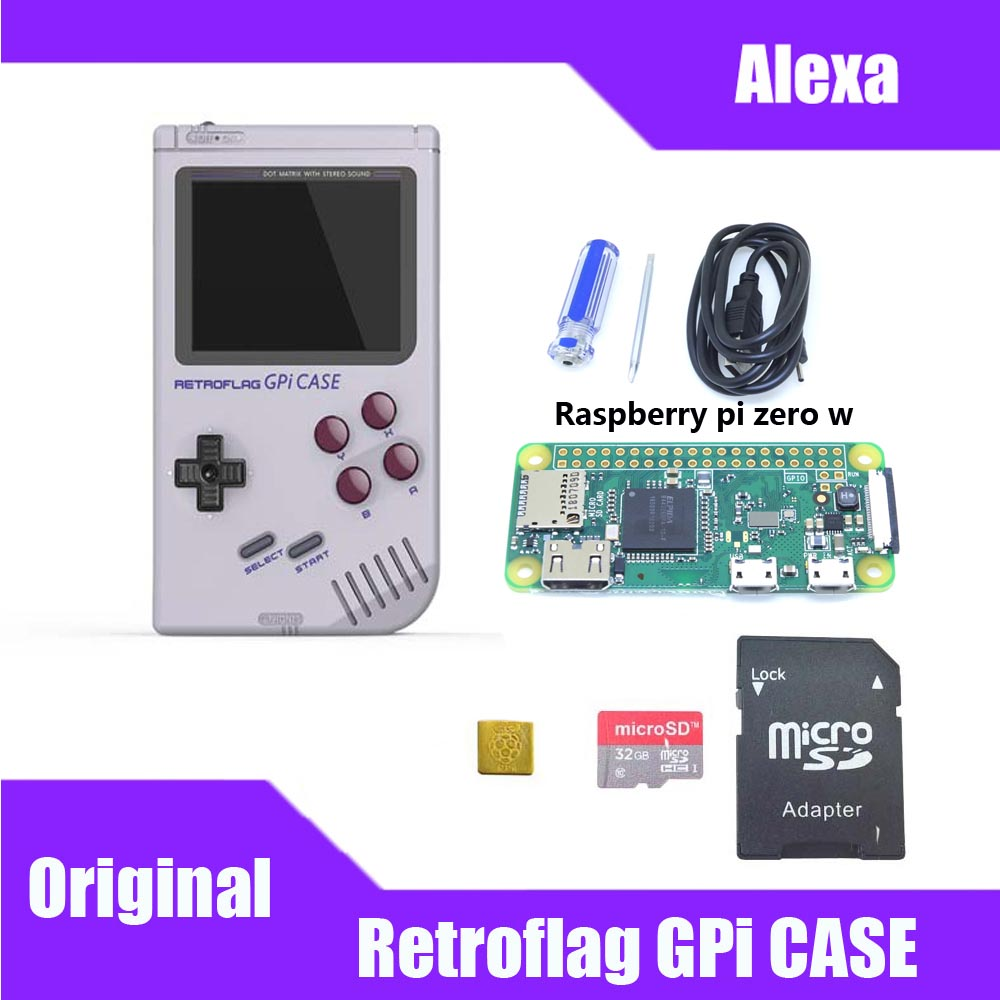 In Stock! Original Retroflag GPi CASE Kit With 32G Micro SD Card Heatsink Carrying Bag For Raspberry Pi Zero / Zero W