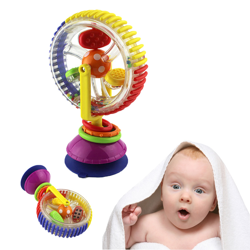 Tricolor Multi-touch Rotating Ferris Wheel Suckers Toy 0-12 Months Newborns Creative Educational Baby Baby Rattle Toys For Baby