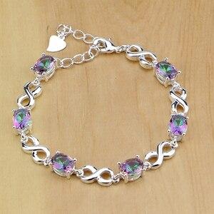 Image 2 - Mystic Rainbow Fire Australian Crystal 925 Silver Jewelry Set For Women Wedding Earrings/Pendant/Necklace/Rings/Bracelet