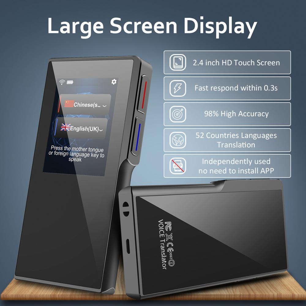 T1 Intelligent Translator Machine 70 Language Translation WIFI hotspot 7 Days Standby For Traffic Travel shop Learn Exchange in Translator from Consumer Electronics