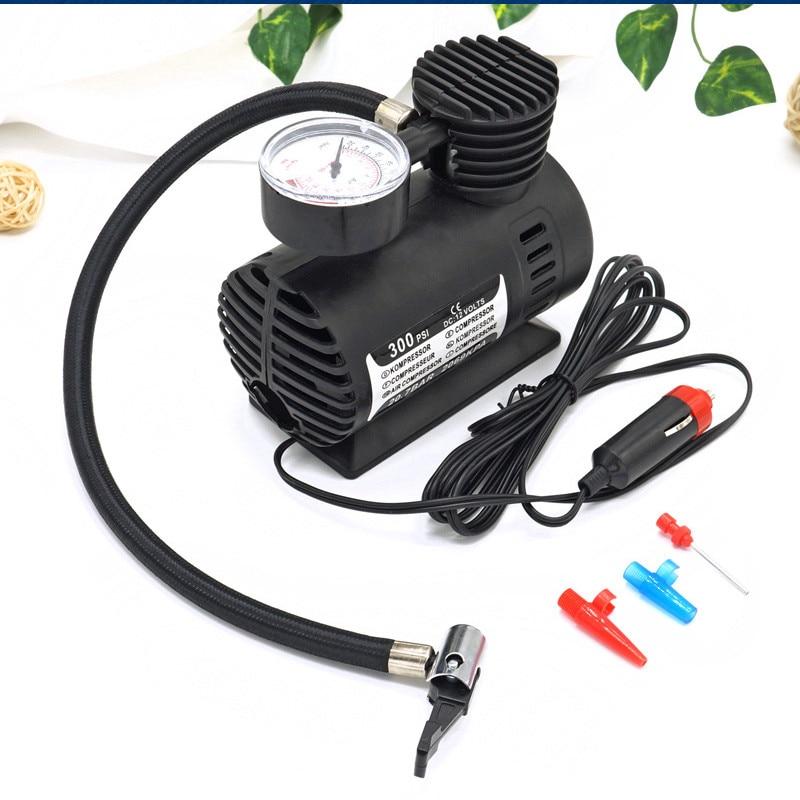 Brand New Portable Versatile 12V Auto Tire Inflator Pump 300 PSI Car Electric Air Compressor 60W Black