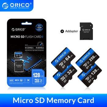 ORICO Micro SD Card Memory 256GB 128GB 64GB 32GB 80MB/S mini TF car sd card Class10 flash
