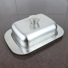 Butter Dish Stainless Steel Tray with Metal Lid for Butter Kitchen