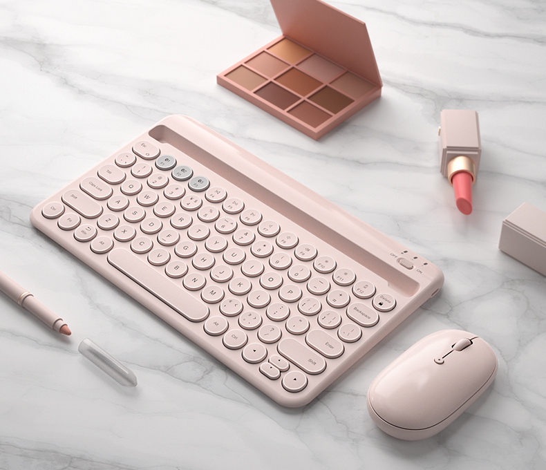 with mouse pink
