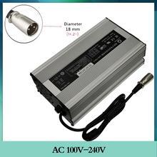 Cargador inteligente de batería de iones de litio de 67,2 V, 10A, 60V, 16S, conector XLR de 3 pines