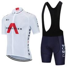 INEOS-Conjunto de Ropa deportiva para Ciclismo, Maillot y pantalones cortos para Ciclismo de montaña, color blanco, 20D, 2021