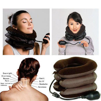 Massage Inflatable Neck Pillow Inflatable U Shaped Travel Car Head Neck Rest Air Cushion for Travel  Expandable Pain-Relief inflatable neck pillow inflatable u shaped travel pillow car head neck rest air cushion for travel neck flocking soft pillow