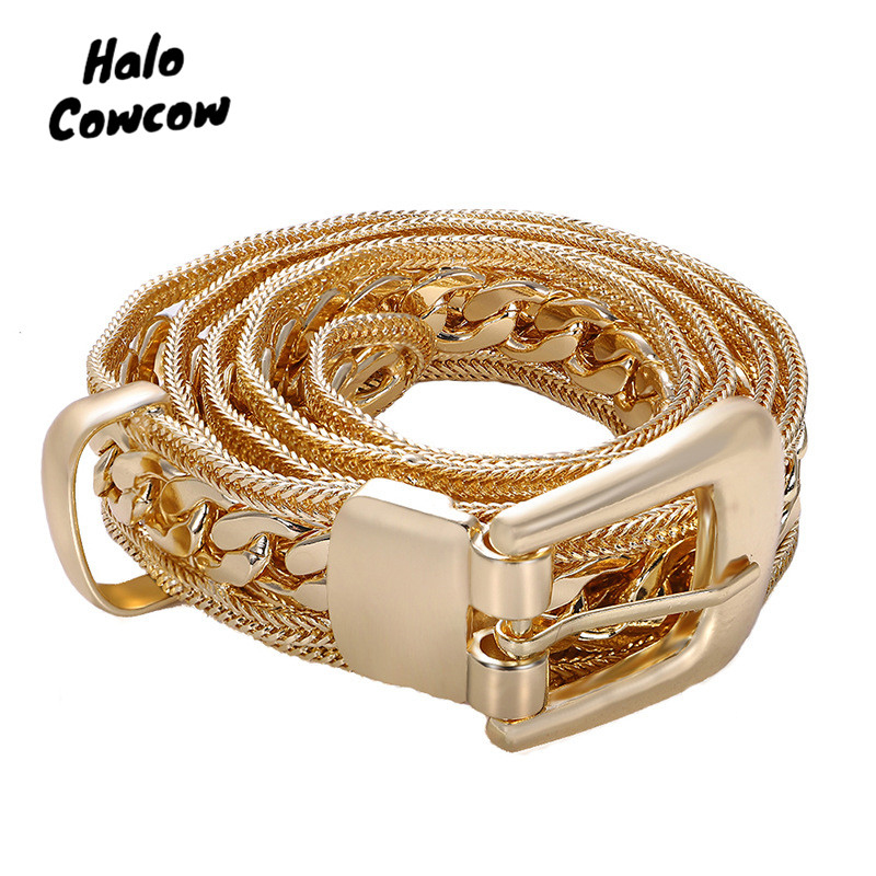 Luxury Brand Designer Chain Belts Women Jewelry Gold Chain Belt Rhinestone Diamond Pearl Cinturon Mujer Waistband Waist Straps