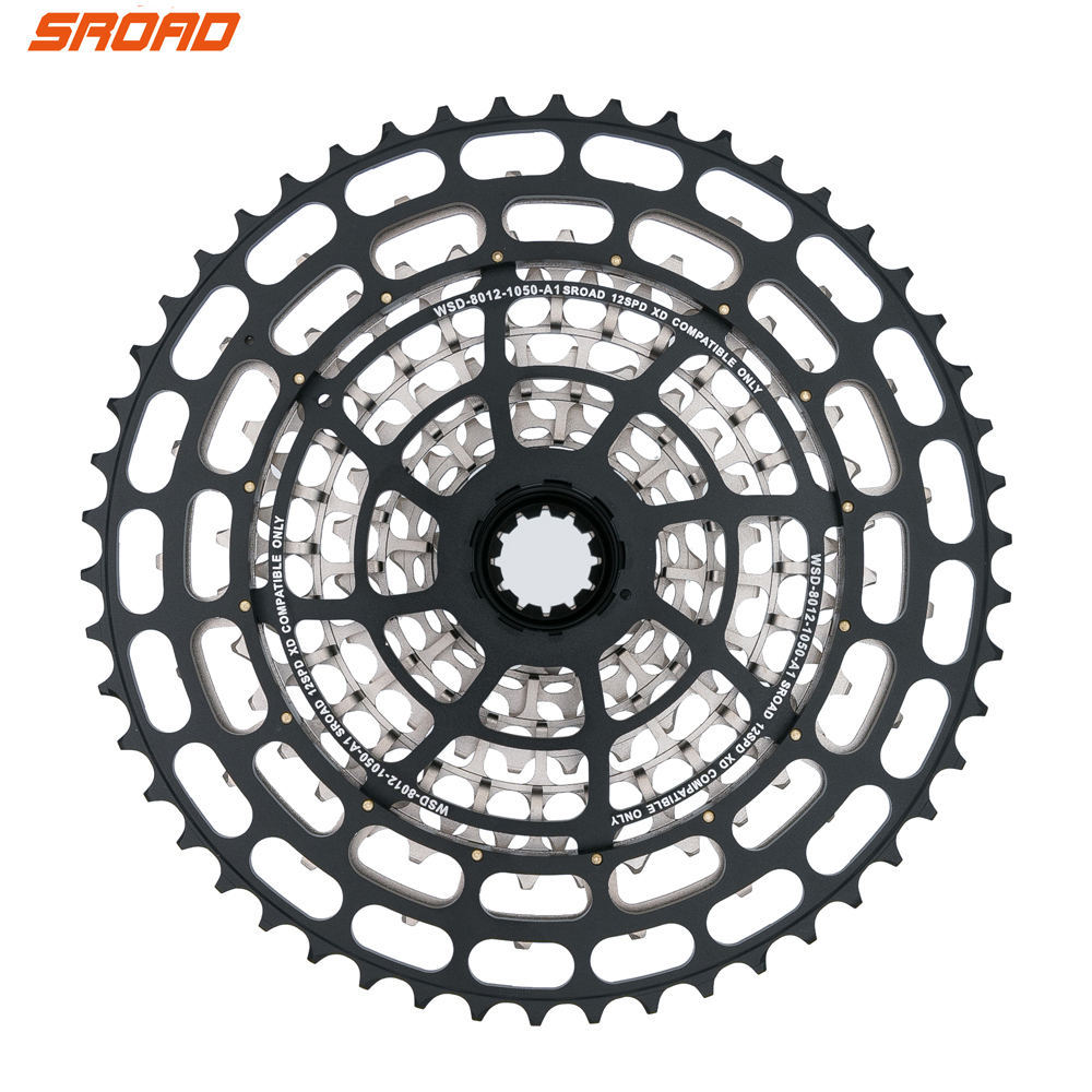 SROAD 12s Cassette10-50T 12 speed MTB Bicycle Cassette CNC Bike Freeewheel fits SRAM XD Super Light CNC Bicycle Cassette image