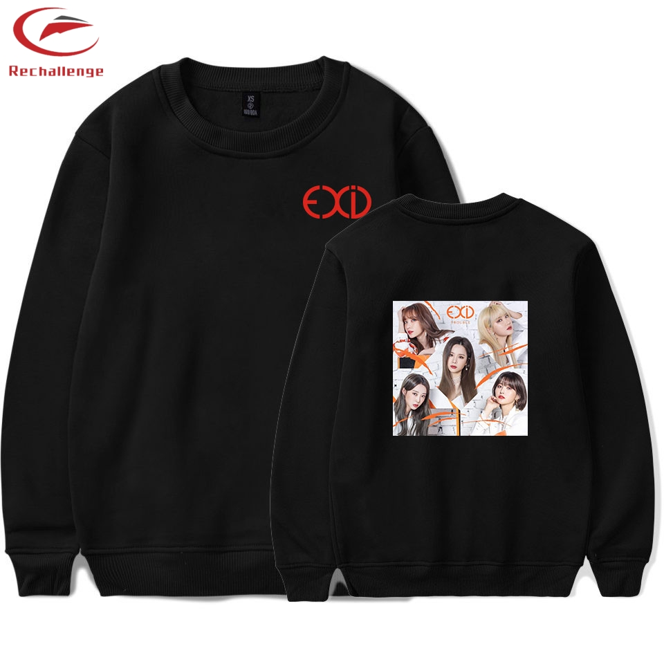EXID Sweatshirts Men's 2019 Sweatshirt  Round Neck Casual Top Fashion Clothing EXID Men's Sweatshirts Trend