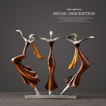 Wedding Gifts Home Decor Dancing Couple Sculpture Statue Love Decoration Desktop Crafts Resin Abstract Lovers Figurines Ornament