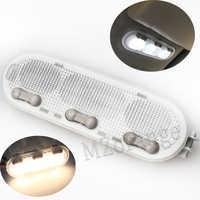 Luz de lectura Domo para Nissan Qashqai/Sunny/March 3-Botton 1-Botton para Renault Dacia Car lámpara de Interior para lectura luces de lectura
