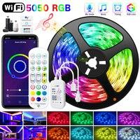 5M-30M 5050 WIFI LED Streifen RGB LED Streifen Licht Bluetooth Wasserdichte LED Lampe Band Alexa Band licht für TV Hintergrundbeleuchtung Desktop