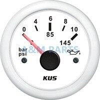 Kus marinha motor indicador de pressão do motor de popa barco à prova dwaterproof água 12/24v 10bar 145psi