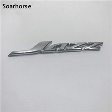 Voor Honda Jazz Embleem Chrome Sticker Logo Badge Auto Achter Gate Dek Naambord Decal(China)