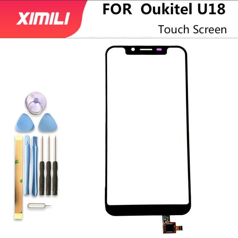 5,85 дюймовый 100% оригинальный для Oukitel U18 сенсорный экран дигитайзер сенсорная панель стекло замена Oukitel U18 + инструменты + 3 м