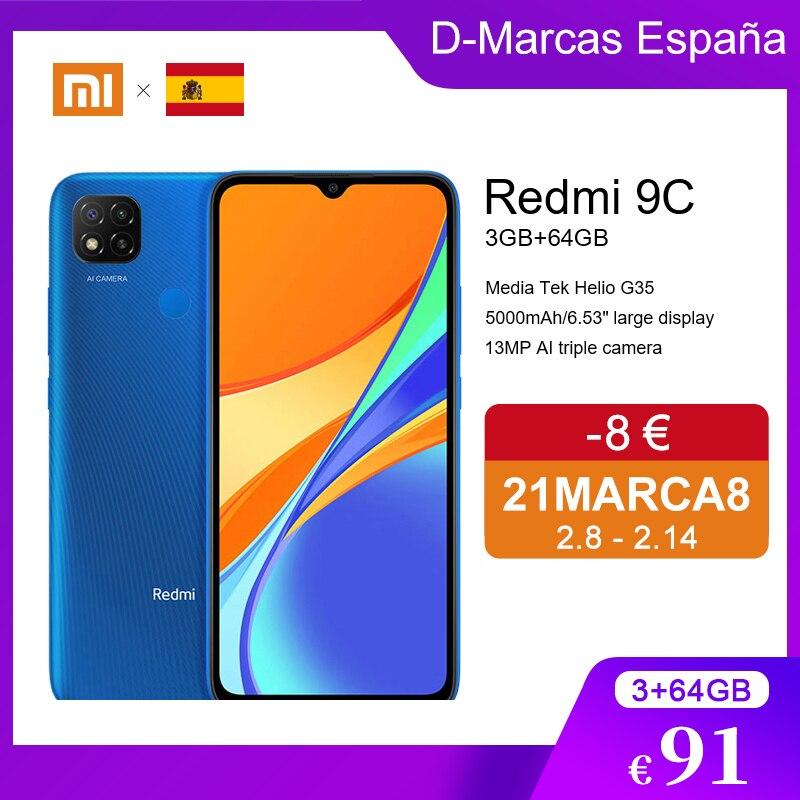 "Promote Code 21MARCA8( €8) Global Version Xiaomi Redmi 9C 3GB RAM 64GB ROM Helio G35 Mobile Phone 13MP+2MP+2MP Camera 6.53"" HD|Cellphones| - AliExpress"