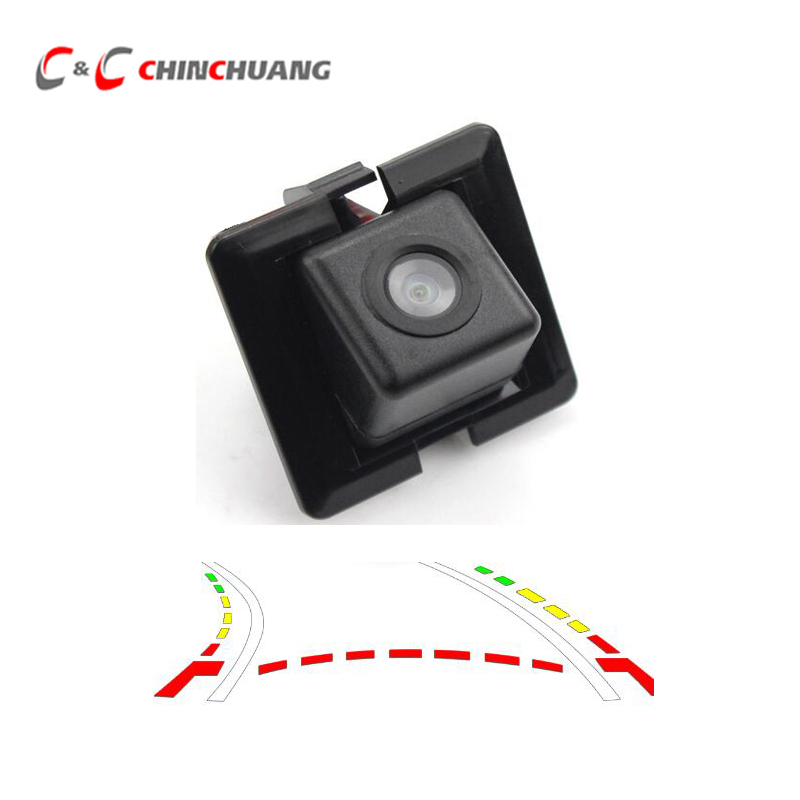 Dynamic Trajectory Tracks Car Rear View Backup Camera for Toyota Prado 150 Auto Rearview Reverse Parking Assistance Waterproof image