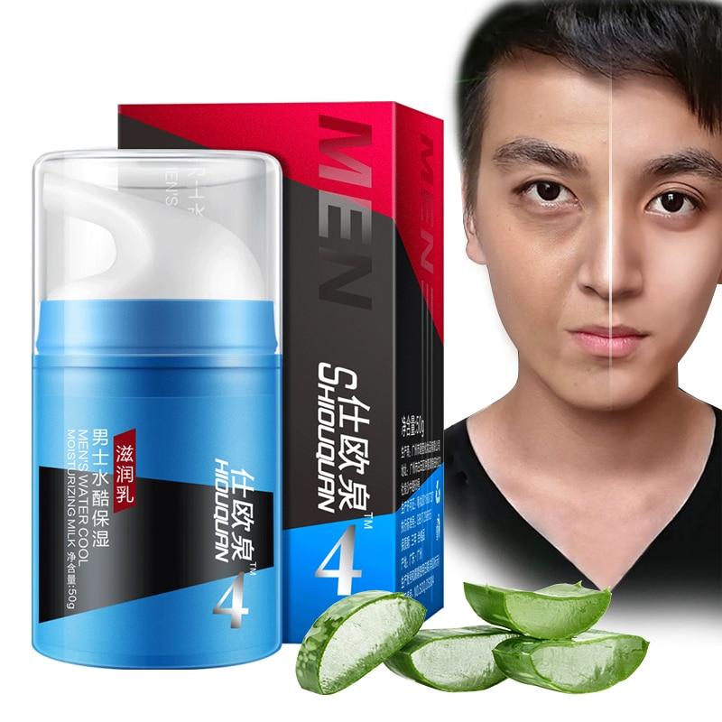 Face Cream Aloe Men's Moisturizing Emulsion Anti-Aging Repair Skin Serum Hyaluronic Acid Skin Care Lift Firming Night Cream