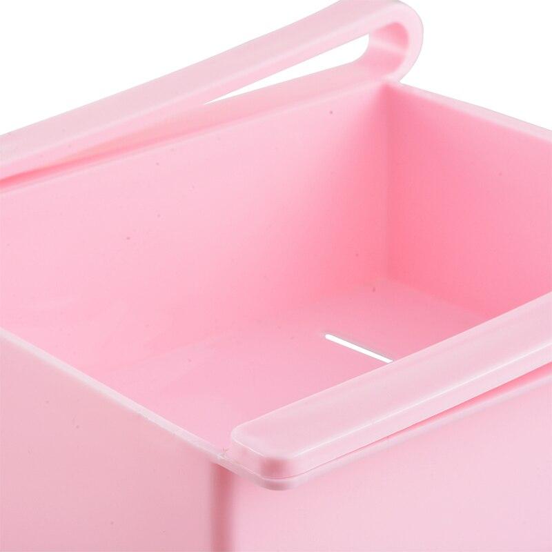 Image 5 - Mini ABS DIY Slide Kitchen Fridge Freezer Space Saver Organization Storage Rack Bathroom Shelf Rack Organizer Holder-in Storage Holders & Racks from Home & Garden