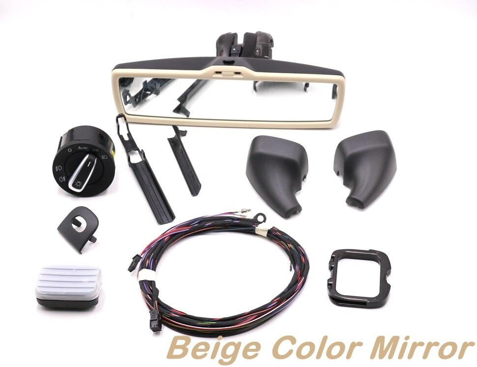 Auto headlight switch Rain Light Wiper Sensor Antiglare Anti-glare Dimming Rear View Mirror For VW Tiguan Jetta MK5 Golf 6 MK6