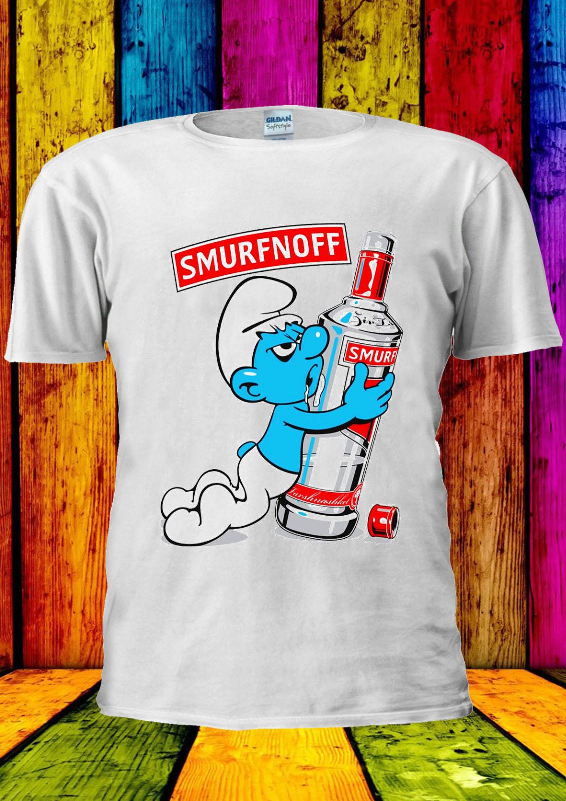 Забавная крутая футболка Smurfnoff для мужчин и женщин, унисекс, 2360
