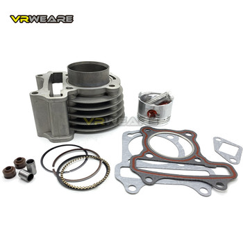 цена на GY6 cylinder Kit 50mm big bore Cylinder Piston Ring Set for 4 stroke Scooter Moped 139QMB 147QMD GY6 50 60 80 cm3 to 100 cm3