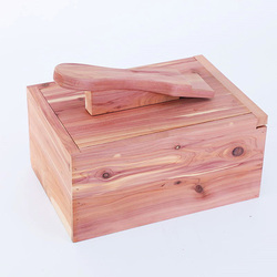 Shoebox Corrosion Resistant Shoe Polish Storage Box Fragrant Wood Foot Shoe Shine Toolbox Pine Shoe Box