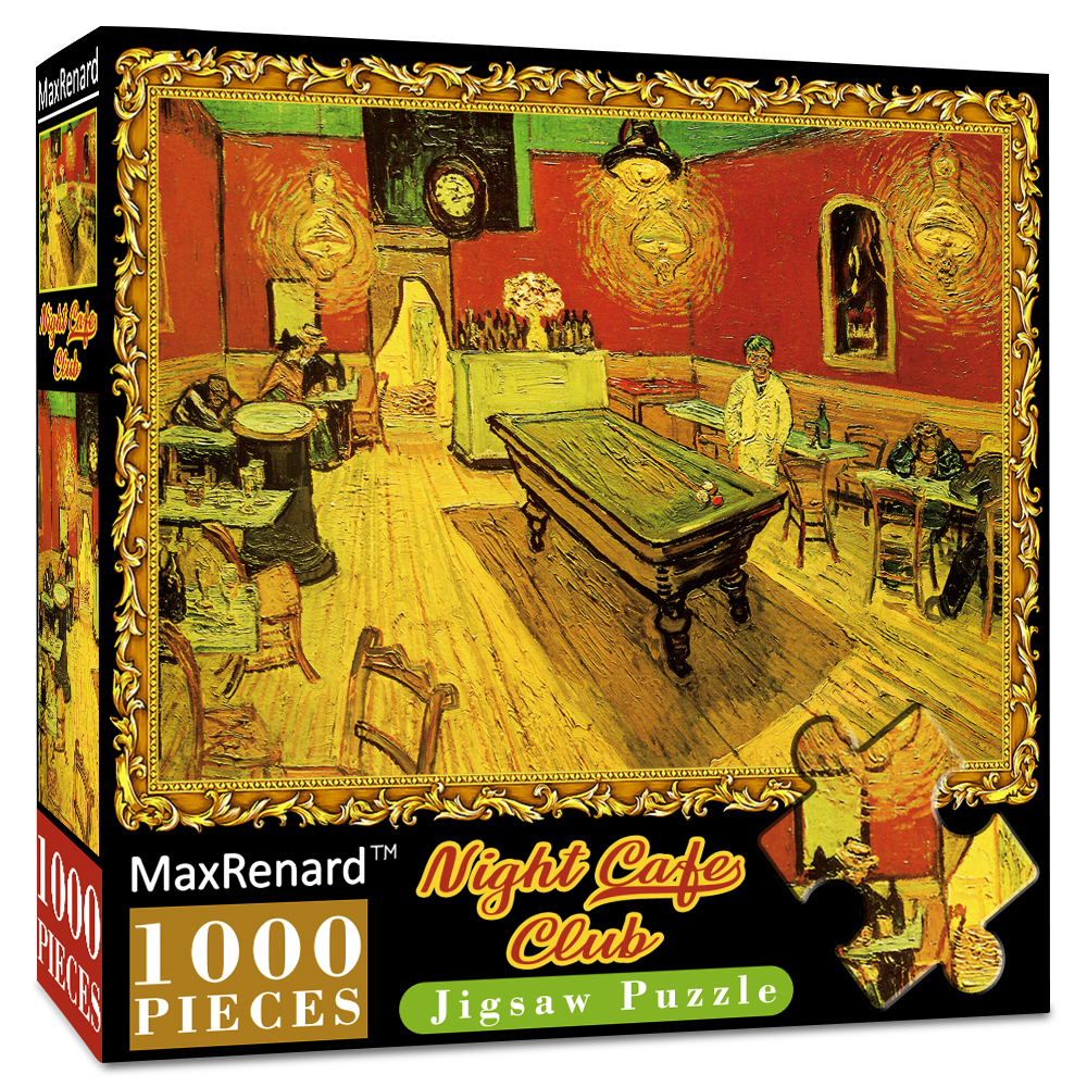 MaxRenard Jigsaw Puzzles 1000 Pieces 50*70cm The Kiss Wooden Assembling Painting World Masterpiece Puzzles Toys for Adults Games 8