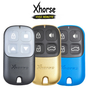 Image 1 - KEYECU XHORSE (גרסה אנגלית) ססגוניות 4 כפתור אוניברסלי מרחוק מפתח Fob עבור VVDI מפתח כלי VVDI2 צהוב/Blu/שחור