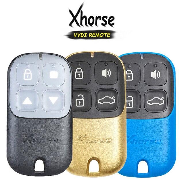 KEYECU XHORSE (גרסה אנגלית) ססגוניות 4 כפתור אוניברסלי מרחוק מפתח Fob עבור VVDI מפתח כלי VVDI2 צהוב/Blu/שחור