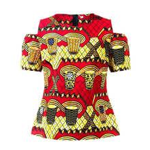 Рубашка женская африканская с принтом Анкары 2020
