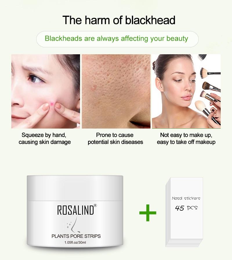 ROSALIND Face Masks Facial From Black Dots Remove Blackhead Acne Nose Peeling Fabric