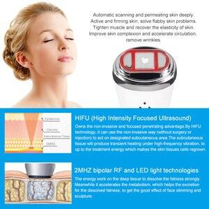 Image 3 - Ultrasonik Mini Hifu yüksek yoğunluklu odaklı ultrason yüz kaldırma makinesi yüz germe RF LED kırışıklık karşıtı cilt bakımı Spa güzellik