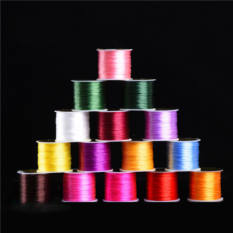 50Meters/roll Black White Stretch Elastic Cord For Bracelet Necklace Nylon Beading Cord String Thread Diy Jewelry Making Supplie