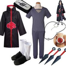 Harajuku cosplay anime charac cosply traje bandana colar anel kunai deidara tobi traje do dia das bruxas para homens crianças capa de dor