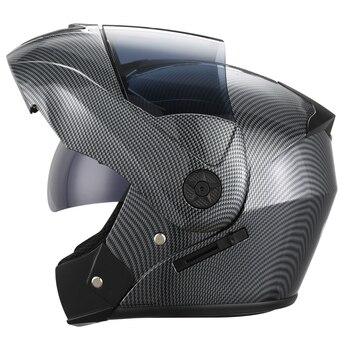 2 Gifts Unisex Racing Motorcycle Helmets Modular Dual Lens Motocross Helmet Full Face Safe Helmet Flip Up Cascos Para Moto kask 7