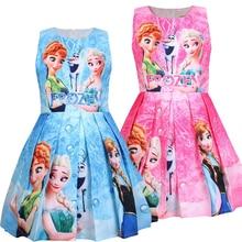 girl princess dress elsa anna kids dresses for girls clothes vestido infantil roupas elbise toddler frocks baby cartoon vestiti