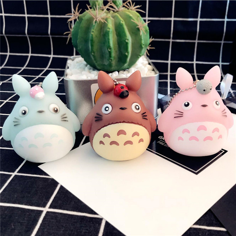 Anime Totoro Keychain Creative Trinket Charm Women Girl Kids Keyring Fashion Keychains Cute Kawaii Kitten Cat Key Chain Ring