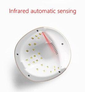 Image 5 - 52W שמש 4S בתוספת מנורת UV לציפורניים מניקור לציפורניים ג ל פולני לכה קרח מנורת אור כפול מקור נייל מנורת נייל אמנות כלים