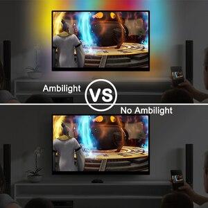 Image 2 - WS2812B Tira de luz LED Ambilight, USB, HDTV, retroiluminación para Pc, Monitor de luces de escritorio, cinta de neón RGB, Ws2812, lámpara Fita