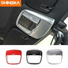 цена на SHINEKA Interior Mouldings For Jeep Grand Cherokee 2011+ Car Interior Front Reading Light Trim Stickers For Jeep Grand Cherokee